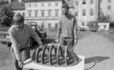 Ladislav Čarný, Igor Hlavinka: Fungus – průzkum místa (1994). Fotograf: Daniel Šperl