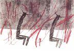 Jitka Válová. Genius loci, drawing, monotype. 1965. Válová Sisters Archive