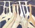 Jitka Válová, Days of May (the Fall), charcoal, watercolor, ink. 1974. Válová Sisters Archive