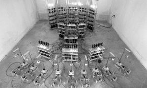 Ad van Buuren: Change Machine — kinetic and sound installation (1995). Photographer: Daniel Šperl