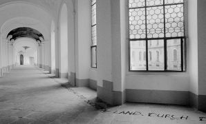 Karl Weibl: Text piece pro Plasy — convent (1994). Photographer: Daniel Šperl