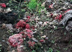 Close-up of heap of shoddy in West Yorkshire's Heavy Woollen District