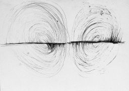 Dalibor Chatrný: Two-handed drawings — ink on paper (1997). Photographer: Daniel Šperl