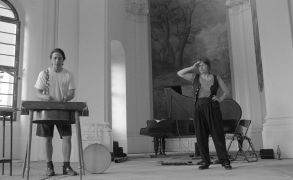 Jo Truman, Michael Delia: koncert kaple sv. Berharda (1995). Photographer: Daniel Šperl
