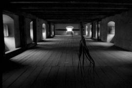 Richard Thomas: Křížení poledníků — instalace (1995). Fotograf: Radek Kodera